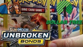 I CAN'T BELIEVE IT! Opening 4 Unbroken Bonds Dollar Tree Packs of Pokemon Cards! by Flammable Lizard