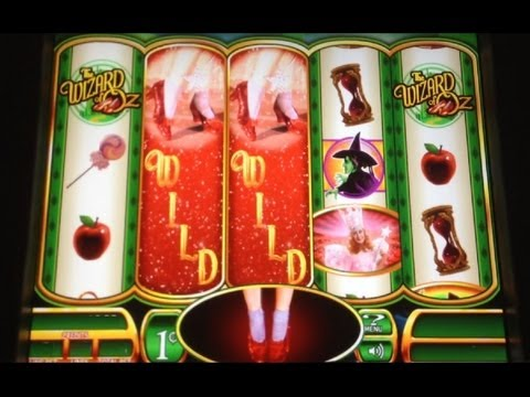 BIG WIN! Ruby Slippers Wizard of Oz Slot Machine Bonus!  ~ WMS (Ruby Slippers)