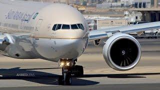 Video Air Traffic at Jeddah Airport #3 | مطار الملك عبدالعزيز - جدة MP3, 3GP, MP4, WEBM, AVI, FLV Juli 2018