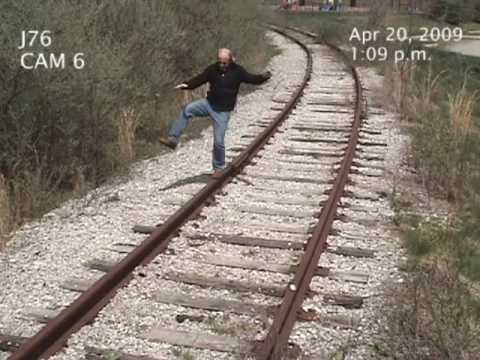 hit - This idiot thinks that these tracks are abandoned. He gets owned! go to cheeksdown.com.