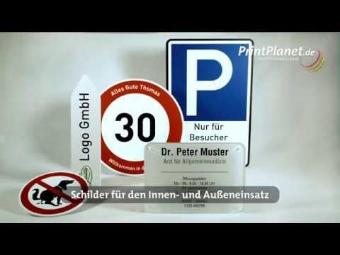 Individuelle Schilder online selbst gestalten (Praxis, Firma, Hunde, Hinweis, Verbote, Parken)