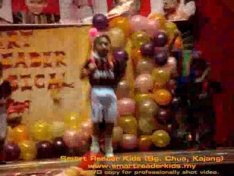 Bouncing ball exercise dance at Smart Reader Kids (Sg Chua, Kajang) concert 2009.