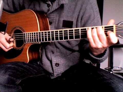 Acoustic guitar lesson : Fingerstyle patterns ( Harp finger pattern 1 )