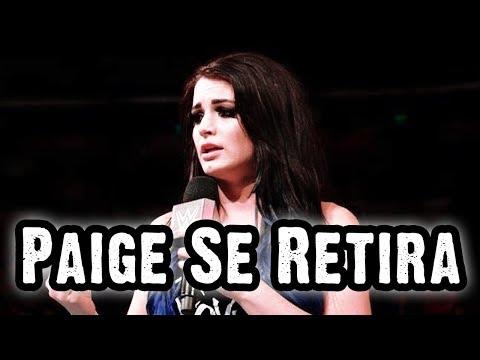 Paige Se Retira de WWE Por Lesión
