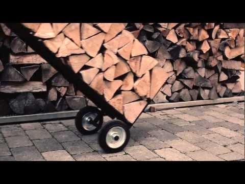 Design Brennholzwagen & Kaminholz Ständer Braendevogn   firewood trolley & firewood rack Brændevogn