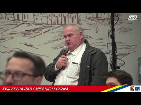 Wideo1: XVIII Sesja Rady Miejskiej Leszna - zapis