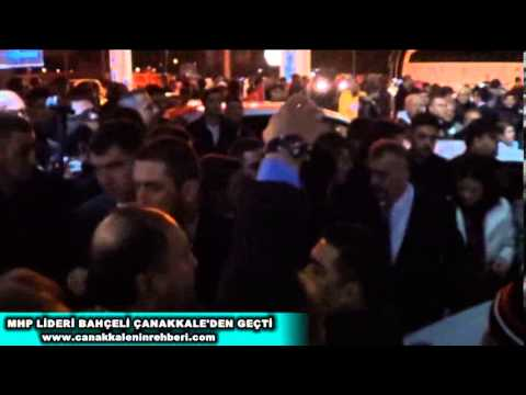 MHP Genel Başkanı Devlet Bahçeli'den Çanakkale'de Gece yarısı Mitingi