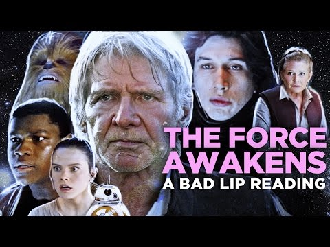 A Bad Lip Reading of Star Wars The Force Awakens  Featuring Mark Hamill as Han