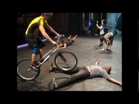 Our roving reporter visits Cirque Eloize in Boston and has a scary moment!