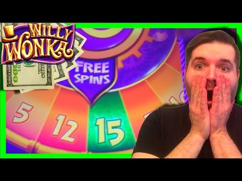 Willy Wonka Slot Machine Bonus – Wonka Free Spins – Big Win!!!