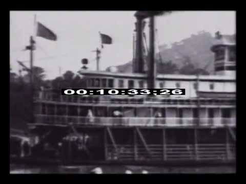 Steamboat - http://www.bestshotfootage.com/ A steamboat or steamship, sometimes called a steamer, is a ship in which the primary method of propulsion is steam power, typ...