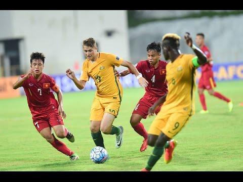 Xem lại Việt Nam U16 3 - 2 Australia U16 19-9-2016, Highlights, AFC U-16 Championship 2016