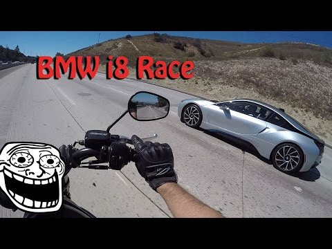 BMW i8 Races VRod | I'm Not Gay (видео)