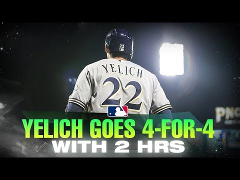 Video: Yelich adds to home run lead with 4-for-4 night