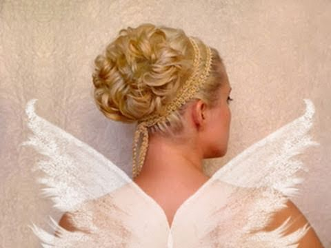 Wedding updo Curly prom hairstyles for short medium long hair tutorial Cute bridesmaid Greek goddess