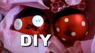DIY Mickey & Minnie Ornaments - YouTube