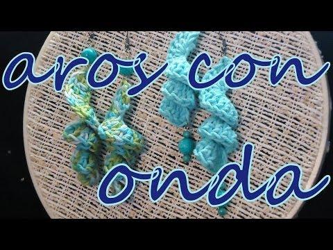 Cómo hacer tus propios aros al ganchillo (crochet earrings) -tejido para zurdos-