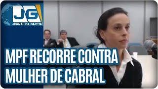 Ministério Público Federal recorre da sentença do juiz Sérgio Moro que absolveu Adriana Ancelmo, a mulher do ex-Governador Sérgio Cabral.Os procuradores também querem que o Tribunal Regional Federal de Porto Alegre aumente a pena de Cabral.