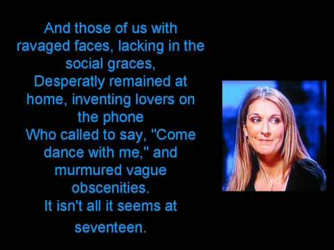 Celine Dion - At Seventeen (with lyrics) at the Grammy Nominations