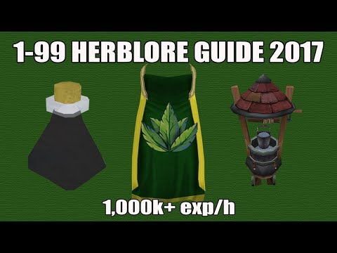 [Runescape 3] 1-99 Herblore Guide 2017 | Fast, Efficient & Cheap Affordable Methods!