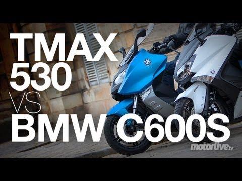 Tmax_530 - YAMAHA TMAX 530 vs BMW C600 SPORT - Le Maxiscooter sport BMW débarque enfin sur nos route. Le C 600S est-il en mesure de détrôner la référence et star du mar...