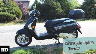7. 2018 KYMCO Compagno 110i Chassis Overview l Motorcycle Update