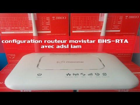 Configuration adsl routeur Movistar  BHS-RTA برمجة و إعداد روتور (видео)