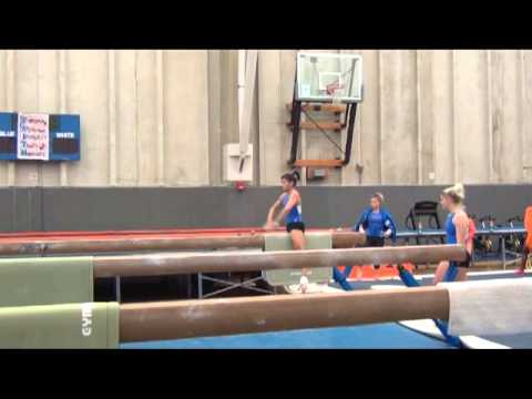 Bridget Sloan rocks her beam routine at Florida Intrasquad for beam and vault.