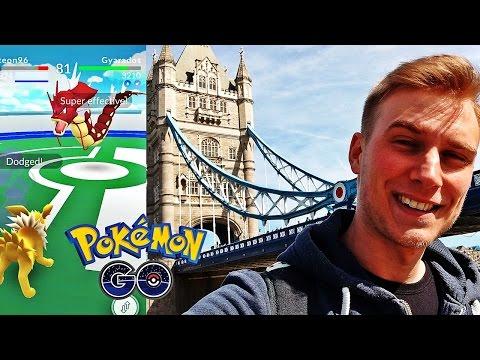 POKEMON GO W LONDYNIE! CZERWONY GYARADOS W TOWER OF LONDON