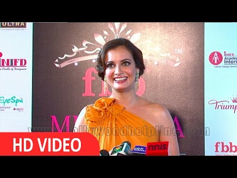 Dia Mirza On Red Carpet Grand Finale Of Fbb Femina Miss India 2016