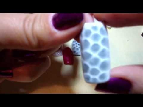 nail art - effetto pelle di serpente