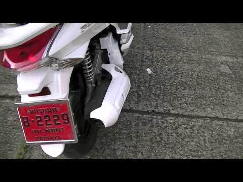 Honda PCX. All White Tuning