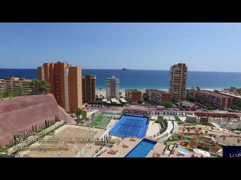 Stunning apartment in the BEST residential complex of Benidorm! 3 bedrooms and a large terrace!