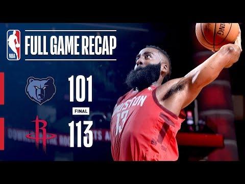 Video: Full Game Recap: Grizzlies vs Rockets | Harden's Triple-Double Leads HOU