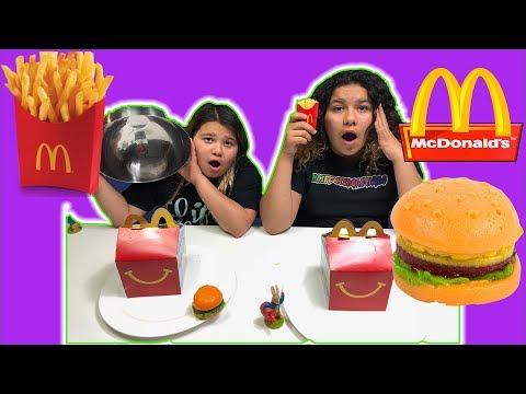Video McDonald's GUMMY FOOD VS REAL FOOD CHALLENGE download in MP3, 3GP, MP4, WEBM, AVI, FLV January 2017