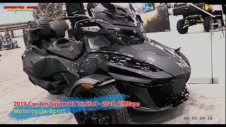2. Look This!!! NEW 2019 Can Am Spyder RT Limited - 2018 AIMExpo!