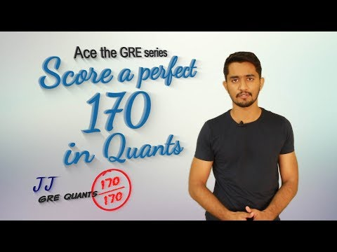 GRE: How to score a perfect 170 in Quants