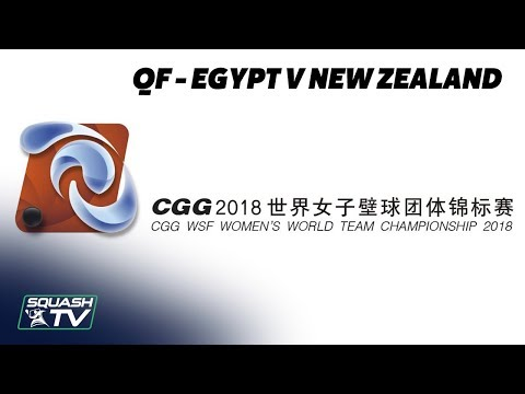 WSF Women's World Team Champs 2018 - Egypt v New Zealand - Quarter Final