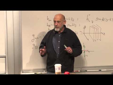 relativity - (December 3, 2012) Leonard Susskind demonstrates that Einstein's field equations become wave equations in the approximation of weak gravitational fields. The...