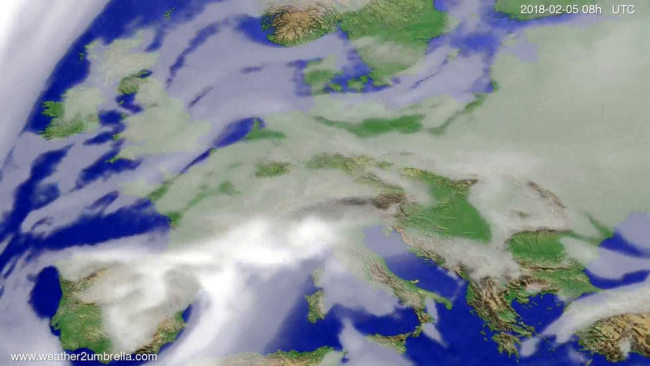 Cloud forecast Europe 2018-02-02