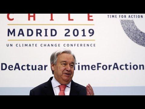COP 25 – Αντόνιο Γκουτέρες: «Η κλιματική κρίση είναι εδώ»