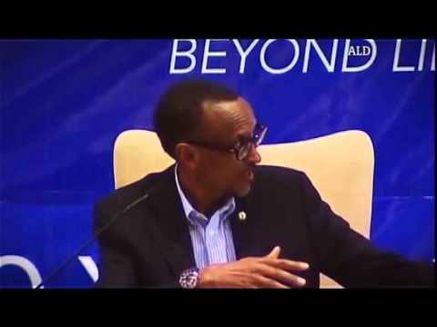 paul kagame - Julie Gichuru moderates a panel session discussing Youth Empowerment. Chief Guest, President Paul Kagame.