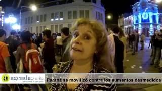 Paraná moviliza por los aumentos de las tarifas