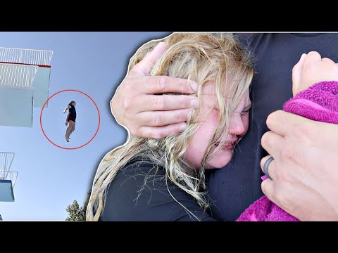 She JUMPED! 35 Foot Drop