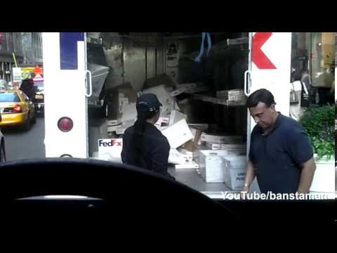 FedEx Employee Throwing Packages
