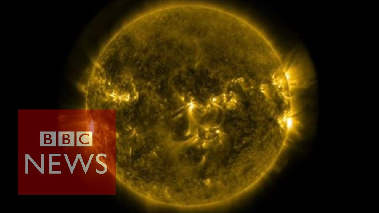 Solar flares: Footage released by Nasa – BBC News