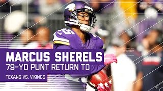 Marcus Sherels' 79-Yard Punt Return TD! | Texans vs. Vikings | NFL by NFL