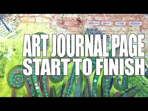 How to: Art Journal Page - Outside In