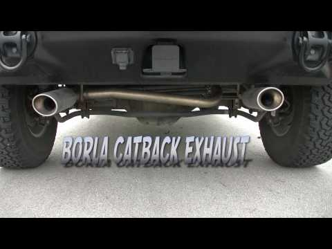 2006 Hummer H2 Stock Exhaust VS BORLA Catback #140037