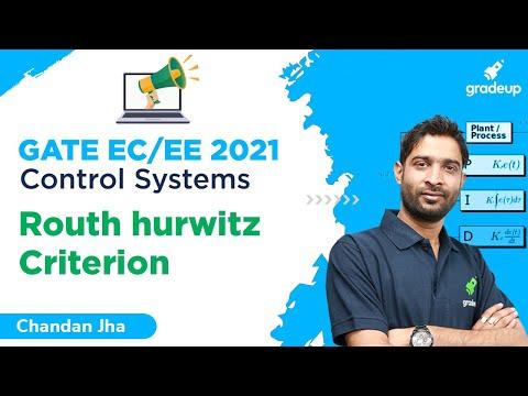Routh Hurwitz Criterion | Control Systems | GATE EC 2021 | Chandan Sir | Gradeup